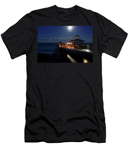 Super Moon At Juno Pier Men's T-Shirt (Athletic Fit)