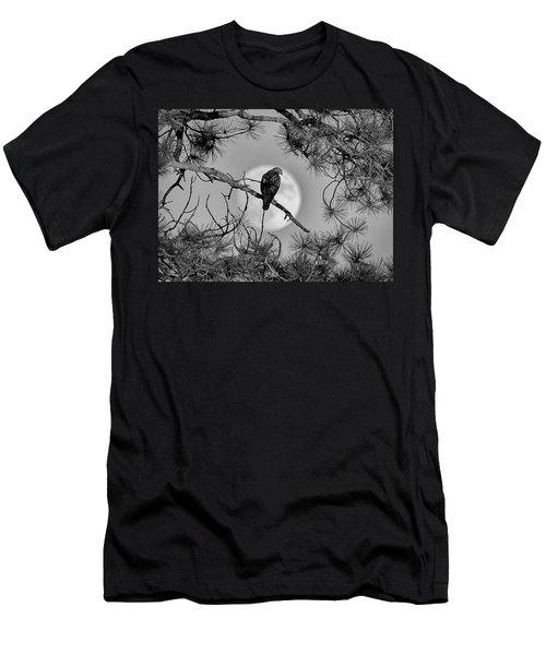Super Moon Hawk Men's T-Shirt (Athletic Fit)