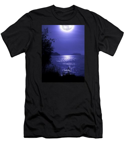 Men's T-Shirt (Slim Fit) featuring the photograph Super Moon by Laura Ragland