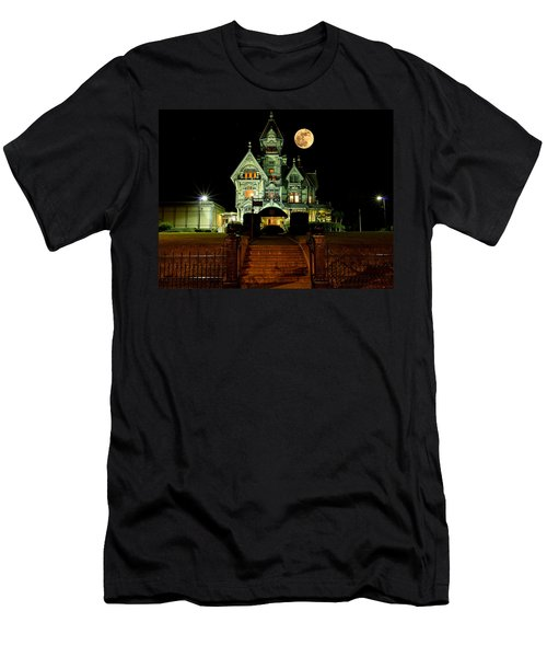 Super Moon Over Carson Mansion Men's T-Shirt (Athletic Fit)