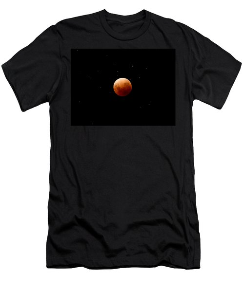 Super Red Blue Moon Eclipse Men's T-Shirt (Athletic Fit)