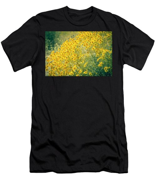 Superbloom Golden Yellow Men's T-Shirt (Athletic Fit)