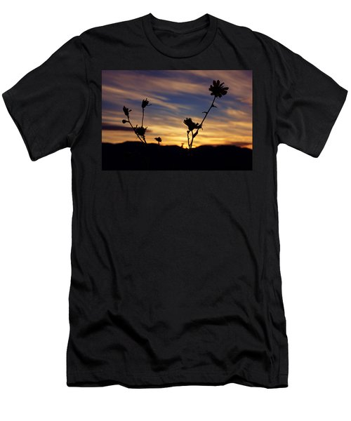 Superbloom Sunset In Death Valley 100 Men's T-Shirt (Slim Fit) by Daniel Woodrum