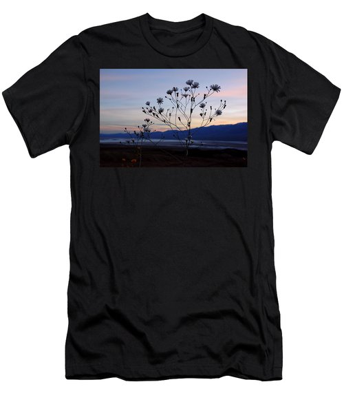 Superbloom Sunset In Death Valley 102 Men's T-Shirt (Slim Fit) by Daniel Woodrum