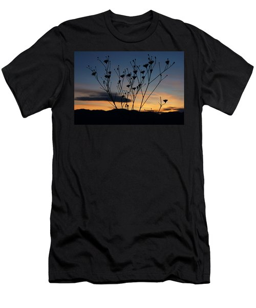 Superbloom Sunset In Death Valley 103 Men's T-Shirt (Slim Fit) by Daniel Woodrum