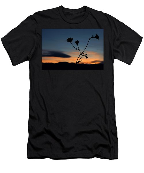 Superbloom Sunset In Death Valley 105 Men's T-Shirt (Slim Fit) by Daniel Woodrum