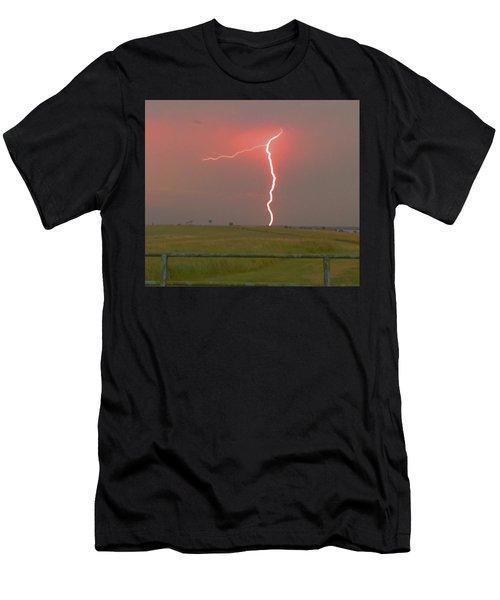 Superbolt On The Prairie Men's T-Shirt (Athletic Fit)