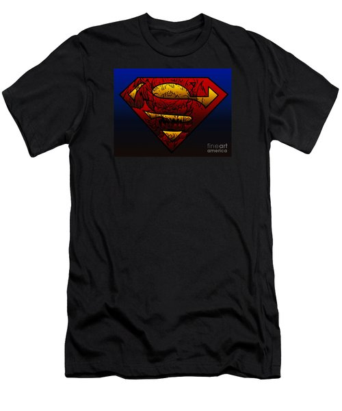 Superman Doomsday Shield  Men's T-Shirt (Slim Fit) by Justin Moore