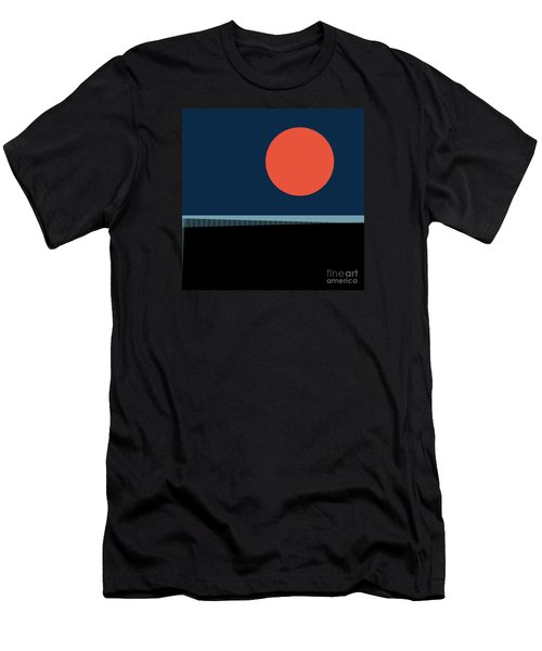 Men's T-Shirt (Slim Fit) featuring the digital art Supermoon Over The Sea by Klara Acel