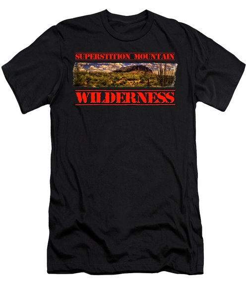 Superstition Mountain And Wilderness Men's T-Shirt (Athletic Fit)