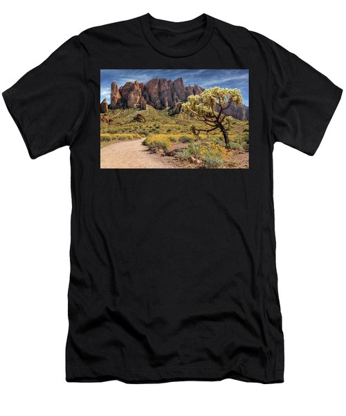 Superstition Mountain Cholla Men's T-Shirt (Athletic Fit)