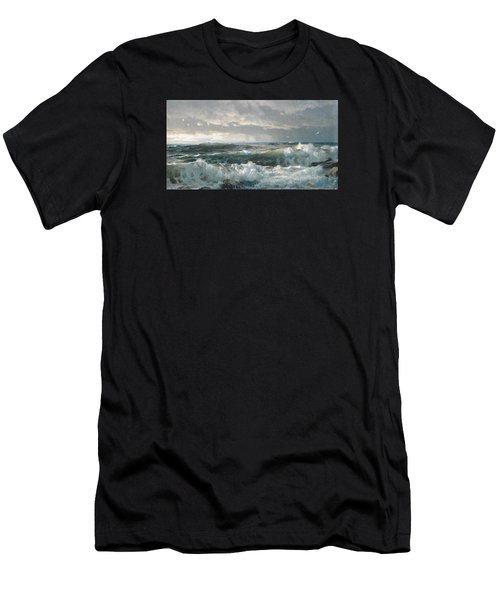 Surf On The Rocks Men's T-Shirt (Athletic Fit)