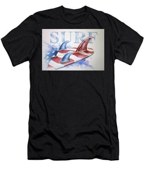 Surf Usa Men's T-Shirt (Athletic Fit)