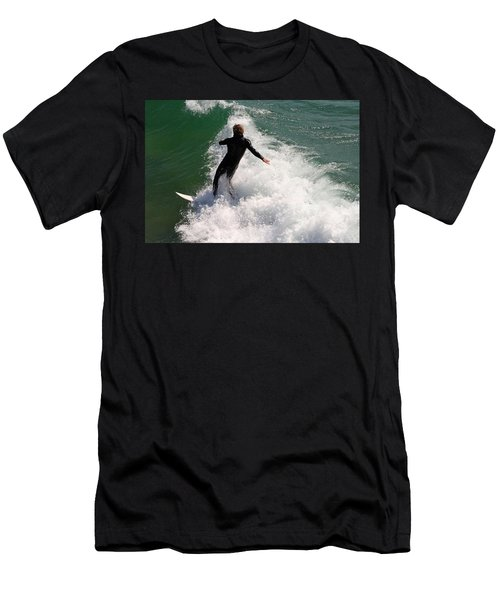 Surfer Catching A Wave Men's T-Shirt (Athletic Fit)