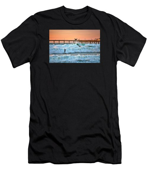 Surfer Celebration Men's T-Shirt (Athletic Fit)
