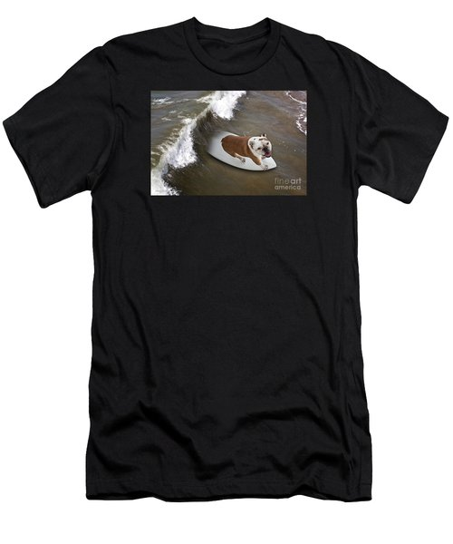 Surfer Dog Men's T-Shirt (Athletic Fit)