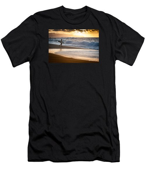Surfer On Beach Men's T-Shirt (Athletic Fit)