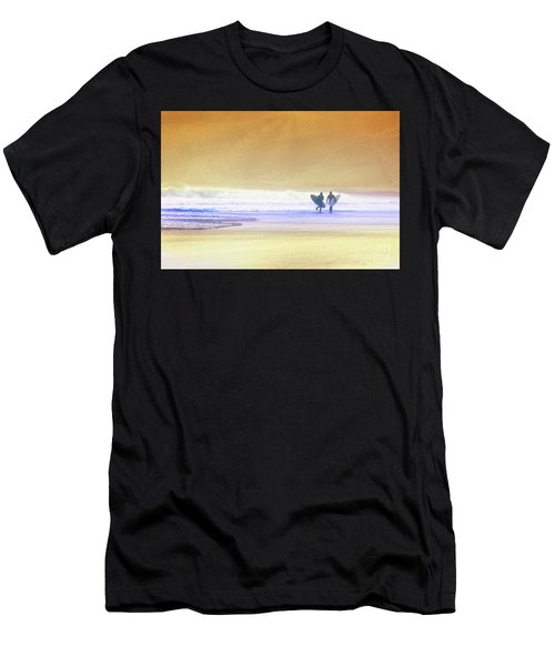 Men's T-Shirt (Athletic Fit) featuring the photograph Surfers by Scott Kemper