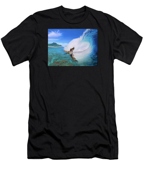 Surfing Dan Men's T-Shirt (Athletic Fit)