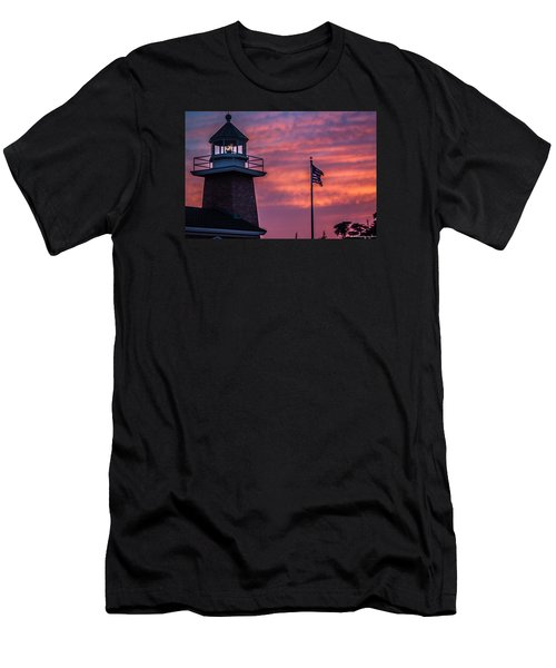 Surfing Museum Full Color  Men's T-Shirt (Slim Fit) by Lora Lee Chapman