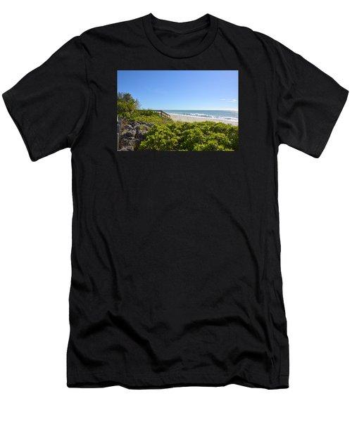 Surfs Up On Casey Key Beach Men's T-Shirt (Athletic Fit)