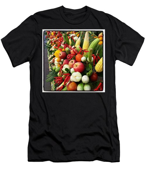 Men's T-Shirt (Athletic Fit) featuring the photograph Surin Elephant Buffet by Mr Photojimsf