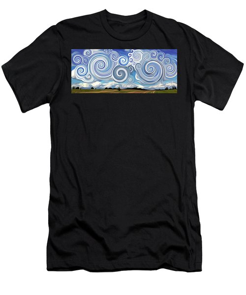 Surreal Cloud Blue Men's T-Shirt (Athletic Fit)