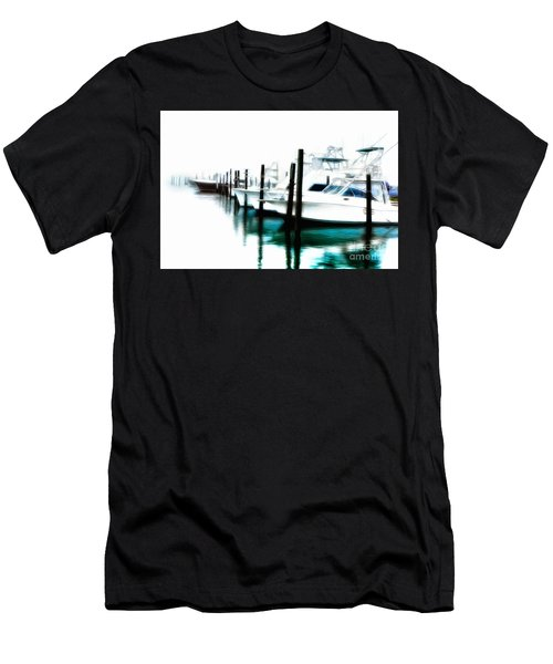 Surreal Fishing Boats In Outer Banks Marina Ap Men's T-Shirt (Athletic Fit)