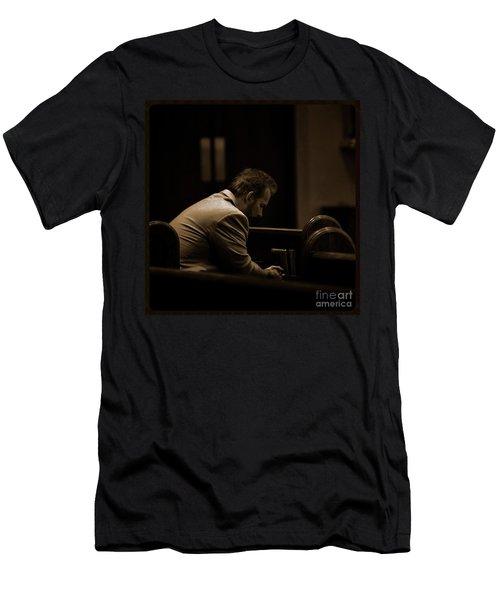 Surrender - Sqaure Men's T-Shirt (Athletic Fit)