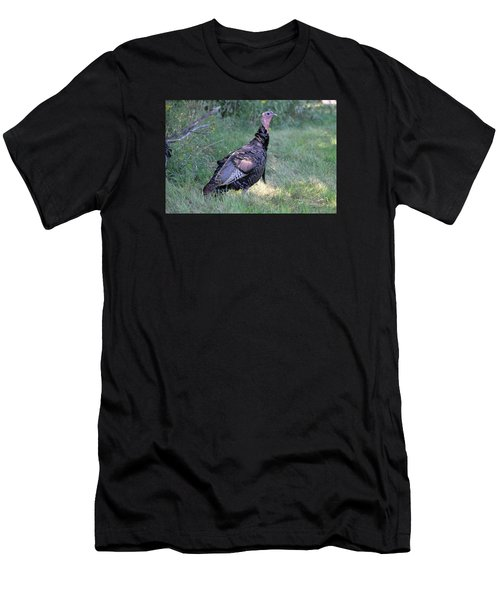 Men's T-Shirt (Slim Fit) featuring the photograph Surveying The Area by Doris Potter