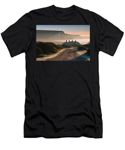 Sussex Coast Guard Cottages Men's T-Shirt (Athletic Fit)