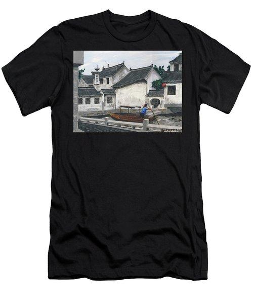 Suzhou Boatman Men's T-Shirt (Athletic Fit)