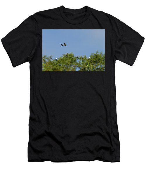 Swallow-tailed Kite Flyover Men's T-Shirt (Athletic Fit)