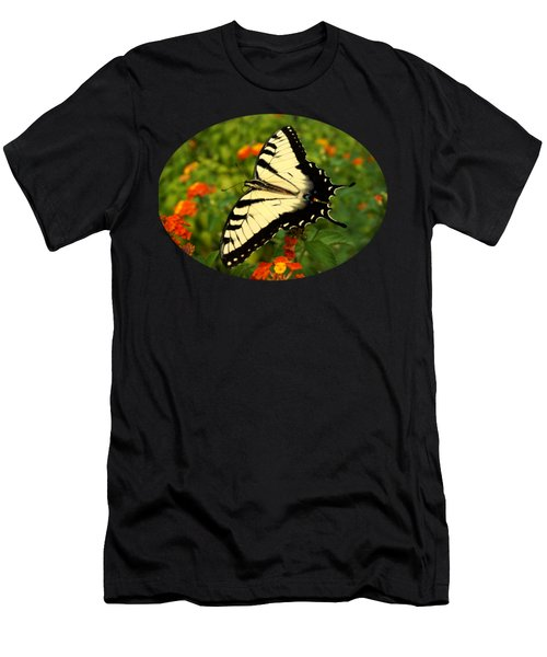 Men's T-Shirt (Slim Fit) featuring the photograph Swallowtail Among Lantana by Sue Melvin