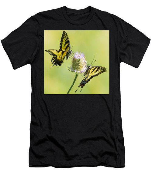 Swallowtails On Thistle  Men's T-Shirt (Athletic Fit)