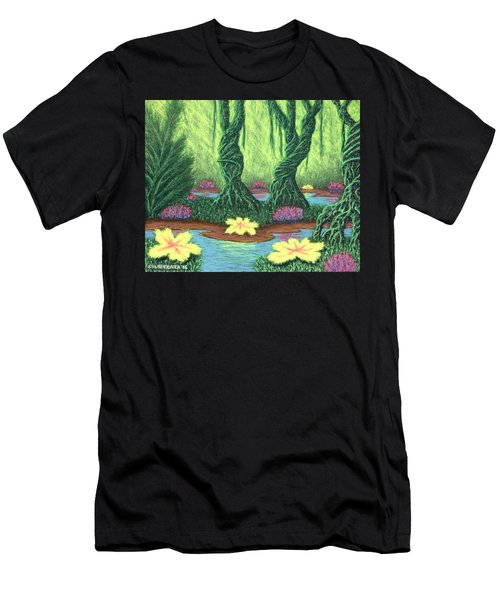 Swamp Things 02, Diptych Panel A Men's T-Shirt (Athletic Fit)