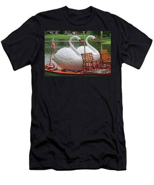 Swan Boat Boston Common Men's T-Shirt (Athletic Fit)