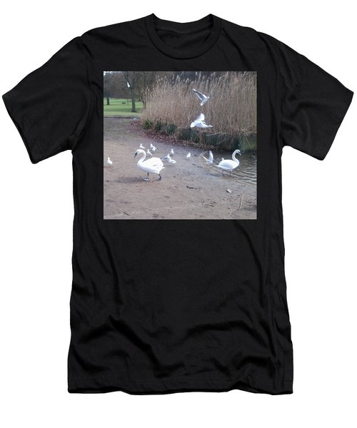 Swans 4 Men's T-Shirt (Athletic Fit)