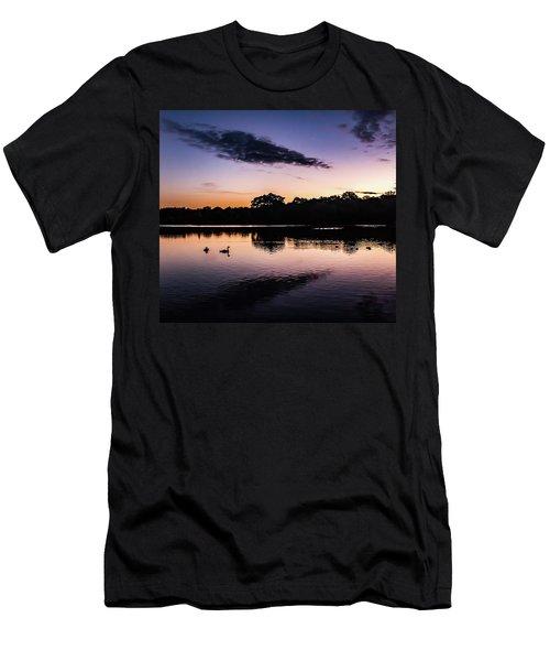 Swans At Sunrise Men's T-Shirt (Athletic Fit)