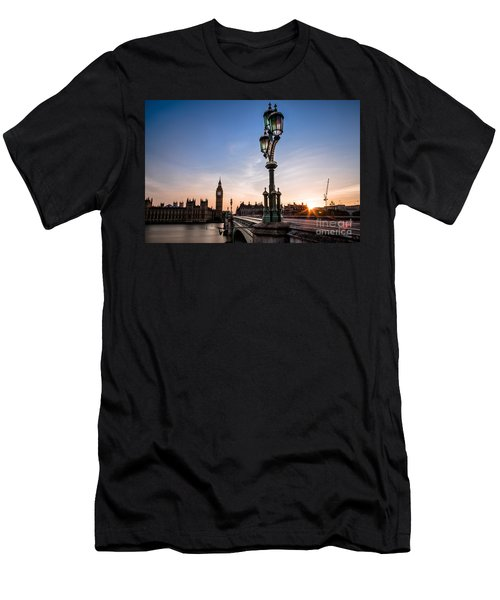 Swapping Lights Men's T-Shirt (Slim Fit) by Giuseppe Torre