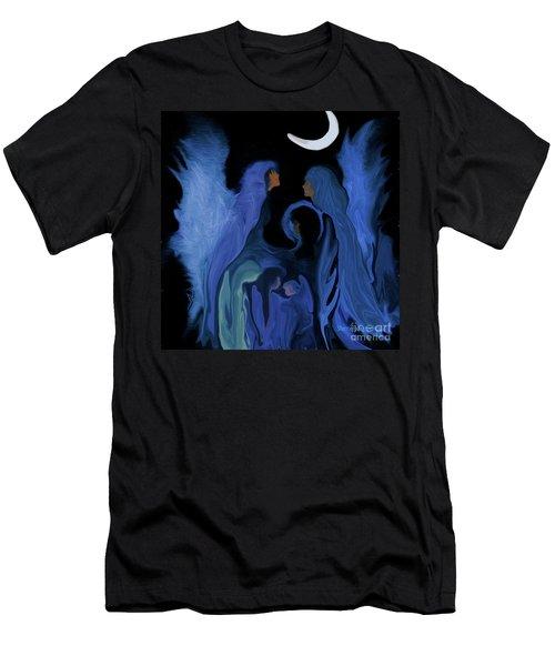 Sweet Angelfamily Men's T-Shirt (Slim Fit) by Sherri's Of Palm Springs