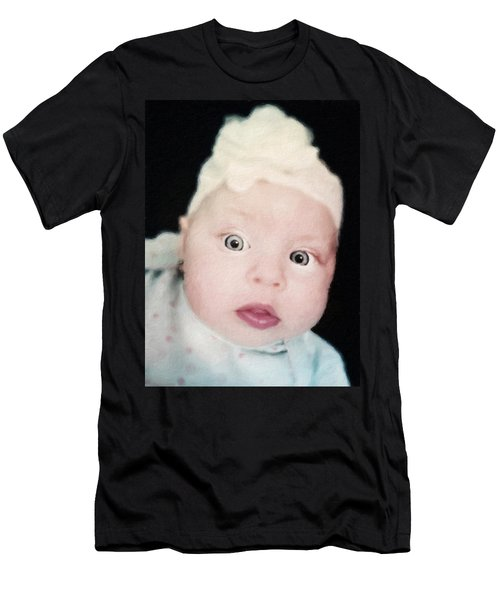 Sweet Baby Girl Portrait Men's T-Shirt (Athletic Fit)