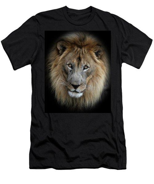 Sweet Male Lion Portrait Men's T-Shirt (Athletic Fit)