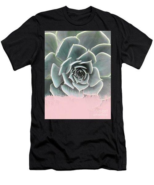 Sweet Pink Paint On Succulent Men's T-Shirt (Athletic Fit)