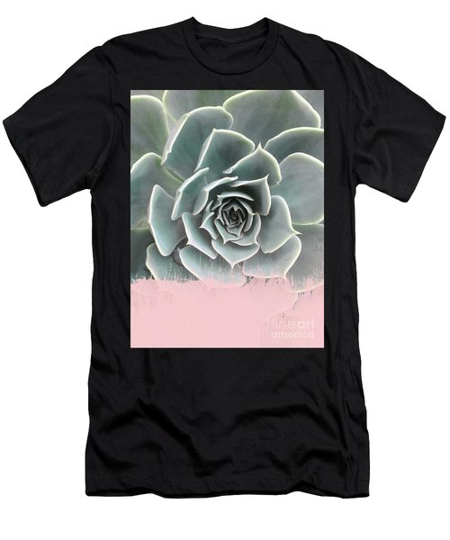 Sweet Pink Paint On Succulent Men's T-Shirt (Athletic Fit)