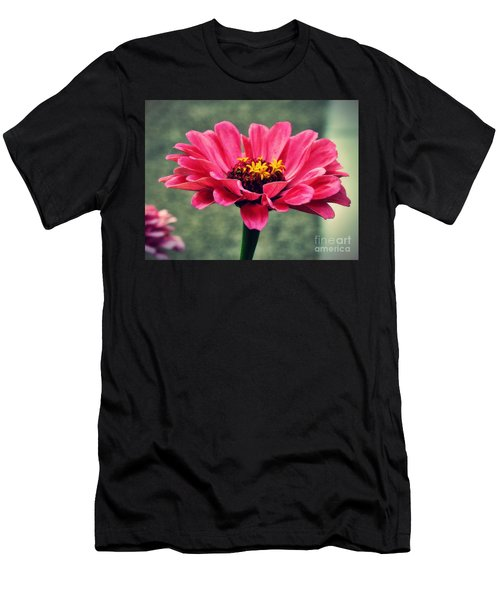 Sweet Pink Zinnia Men's T-Shirt (Athletic Fit)