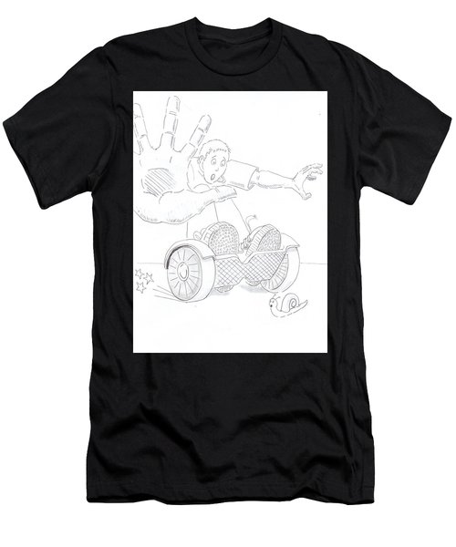 Swegway Hoverboard Emergency Stop Cartoon Men's T-Shirt (Athletic Fit)