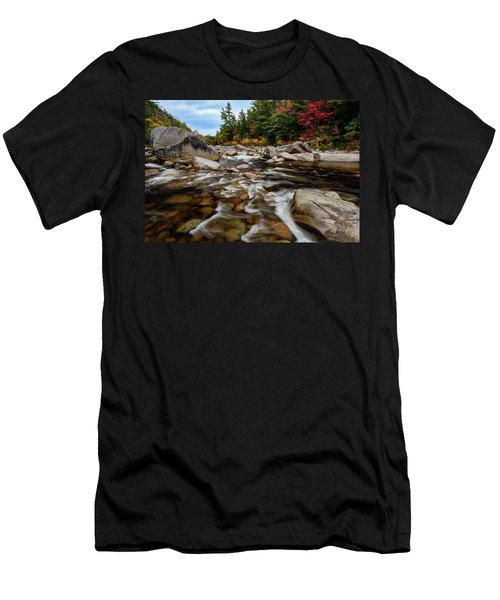 Men's T-Shirt (Athletic Fit) featuring the photograph Swift River Autumn Nh by Michael Hubley