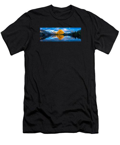 Swiftcurrent Lake Sunrise Panorama Men's T-Shirt (Athletic Fit)