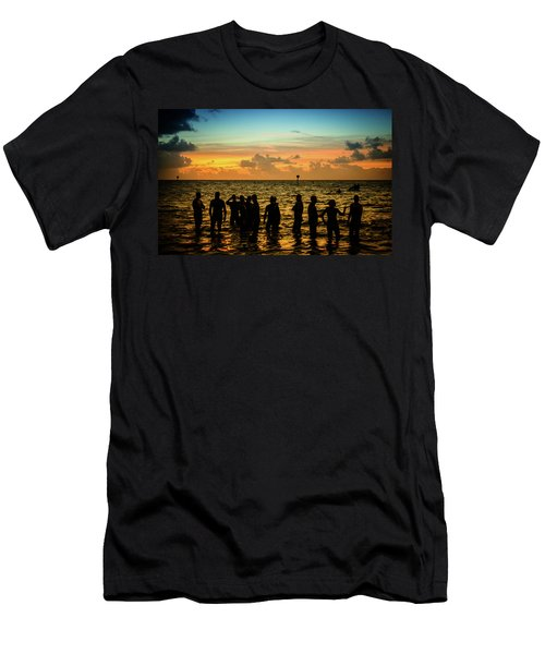 Swimmers Sunrise Men's T-Shirt (Athletic Fit)